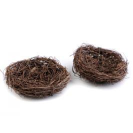Prútené hniezdo Ø8 cm hnedá 2ks Stoklasa