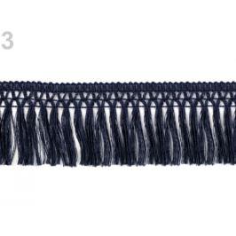 Bavlnené strapce šírka 55 mm modrá tmavá 9m Stoklasa