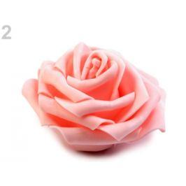 Dekoračná penová ruža Ø10 cm lososová sv. 2ks Stoklasa