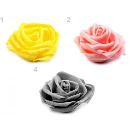 Dekoračná penová ruža Ø10 cm šedá sv 2ks Stoklasa