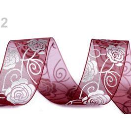 Svadobná monofilová stuha ruža šírka 27 mm bordó 3m Stoklasa