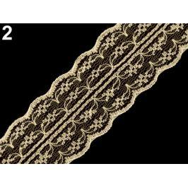 Silónová čipka / vsadka šírka 45 mm krémová sv. 15m Stoklasa