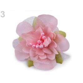 Textilný kvet s piestikmi Ø55 mm Off White 10ks Stoklasa