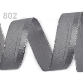 Stuha s lurexom šírka 24 mm šedá 25m