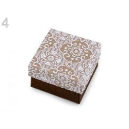 Krabička 5x5 cm hnedá 4ks Stoklasa