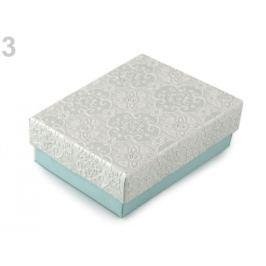 Krabička 7x9 cm tyrkys najsv. 4ks Stoklasa