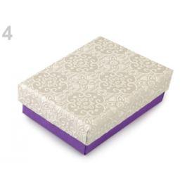 Krabička 7x9 cm fialová 4ks Stoklasa