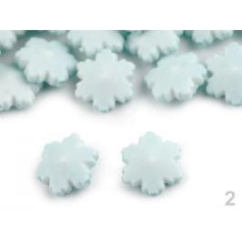 Dekoračná plastová vločka / korálik Ø14 mm modrá ľadová 10ks Stoklasa