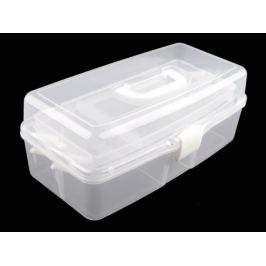Veľký plastový box / kufrík rozkladací Transparent 1ks Stoklasa