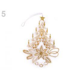 Vianočná čipková dekorácia zlatá 1ks Stoklasa
