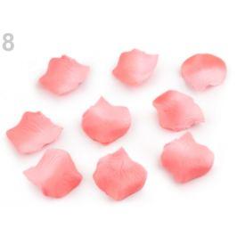 Dekoráca plátky ruží ružová korálová 1sáčok Stoklasa