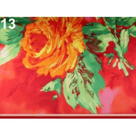 Veľká saténová šatka 130x130 cm červená sv. 1ks