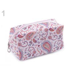 Kozmetická taška paisley, sovy 10,5x18 cm biela 1ks Stoklasa