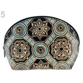 Puzdro / kozmetická taška kožená 12x18 cm čierna 1ks