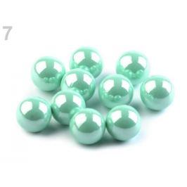 Dekoračné guľky / perly bez dierok Ø8 mm lesklé mint 10ks Stoklasa