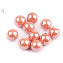 Dekoračné guľky / perly bez dierok Ø8 mm lesklé ružová tm. 10ks Stoklasa