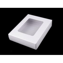 Papierová krabica s priehľadom biela 5ks Stoklasa