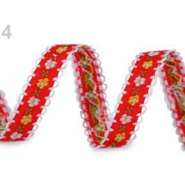 Vzorovka / prámik šírka 13 mm červená 20m Stoklasa