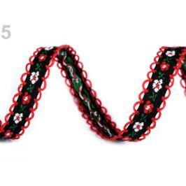 Vzorovka / prámik šírka 13 mm čiernočervená 20m Stoklasa