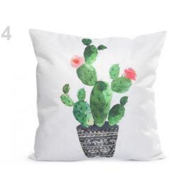 Obliečka na vankúš kaktus 44x44 cm krémová najsvetl 1ks Stoklasa