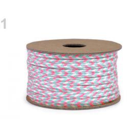 Bavlnená sutaška šírka 4 mm pink 20m Stoklasa