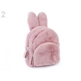 Dievčenský kožušinový batoh zajac pudrová 1ks Stoklasa