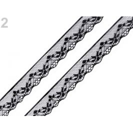 Silónová čipka šírka 18 mm čierna 15m Stoklasa