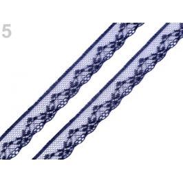 Silónová čipka šírka 18 mm modrá tmavá 15m Stoklasa