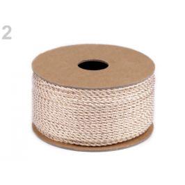 Lurexová šnúrka / povrázok Ø1,5 mm pudrová 20m Stoklasa
