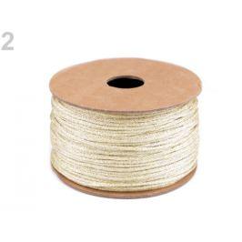 Lurexová šnúra / povrázok Ø2 mm zlatá svetlá 20m Stoklasa