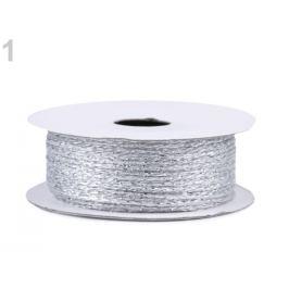 Lurexová šnúrka / motúzik Ø1 mm strieborná 1ks Stoklasa