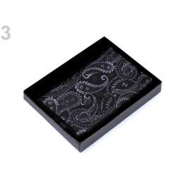 Vreckovka do saka paisley v krabičke čierna 1ks Stoklasa