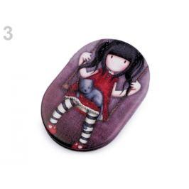 Vreckové zrkadielko dievčatko fialová tm. 1ks Stoklasa