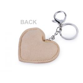Prívesok na kabelku / kľúče srdce s AB efektom modrá sv. 1ks Stoklasa