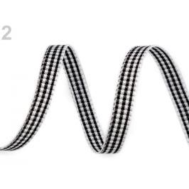 Károvaná stuha šírka 6 mm čierna 5m Stoklasa
