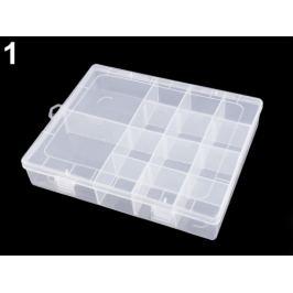 Plastový box / zásobník 4x17x21 cm Transparent 1ks Stoklasa