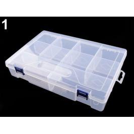 Plastový box / zásobník 6x20x30 cm Transparent 1ks Stoklasa