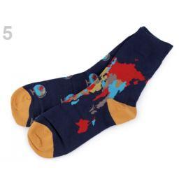 Bavlnené ponožky farebné Wola modrá tmavá 1pár