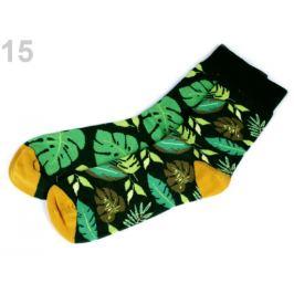 Bavlnené ponožky farebné Wola zelená malachitová 1pár