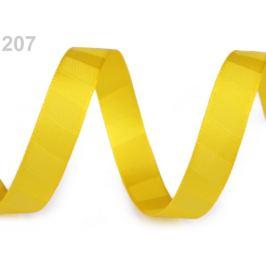 Atlasová stuha obojlíca s pruhmi šírka 15 mm žltá 20m
