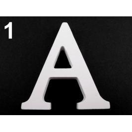 3D dekorácie PÍSMENA abecedy výška 8cm biela 5ks Stoklasa