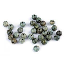 Minerálové koráliky Serpentinit ruský zelený Ø6 mm ruský serpentinit 10ks Stoklasa
