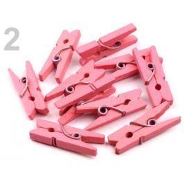 Štipec farebný  4x25mm ružová korálová 50ks Stoklasa