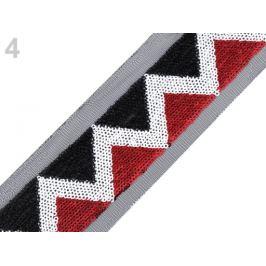 Flitrový prámik na monofile šírka 40 mm červená 1m Stoklasa