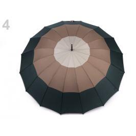 Veľký rodinný dáždnik s pruhmi zelená tm. 1ks Stoklasa