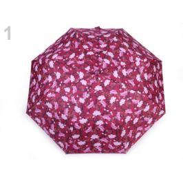 Dámsky skladací vystrelovací dáždnik kvety ružovofialová 1ks Stoklasa