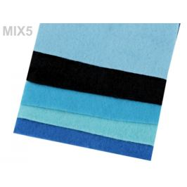 Farebná sada dekoratívnych filcov / plstí 10x45 cm Stoklasa