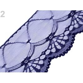 Silónová čipka šírka 11-14 cm modrá tmavá 15m Stoklasa