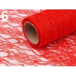 Čipka dekoračná šírka 48-50 cm návin 4,5 m červená 4.5m Stoklasa