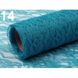 Čipka dekoračná šírka 48-50 cm návin 4,5 m modrá tyrkys. 4.5m Stoklasa